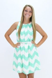 Bubbly Chevron Dress, Green...plus like everything else from this boutique...
