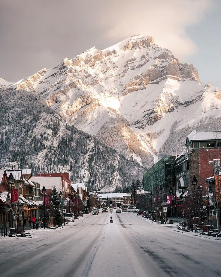 """The town of Banff as winter approaches (Alberta) by Stevin Tuchiwsky (@stevint) on Instagram: """"With a little snow everything seems to become a little more magical."""""""