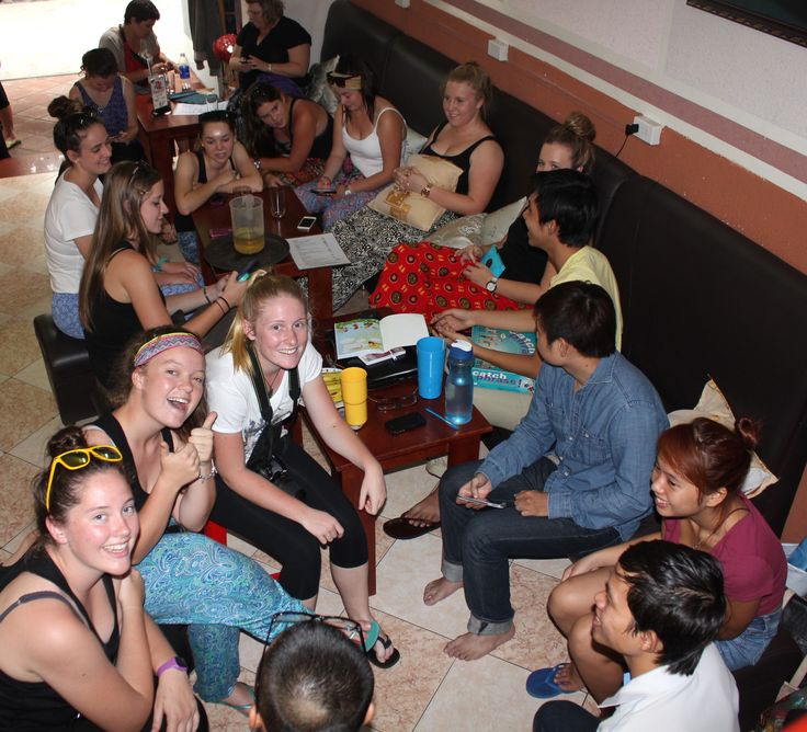 Spending some time helping the locals with their English. #VietnamSchoolTours #Cafe