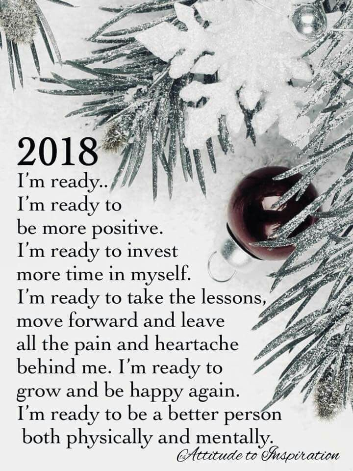 2018 I'm ready for happiness! And to work on my blog www.helensjourney.com
