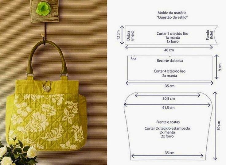 BOLSA FБCIL DE COSTURAR - 1 ~ Moda e Dicas de Costura: