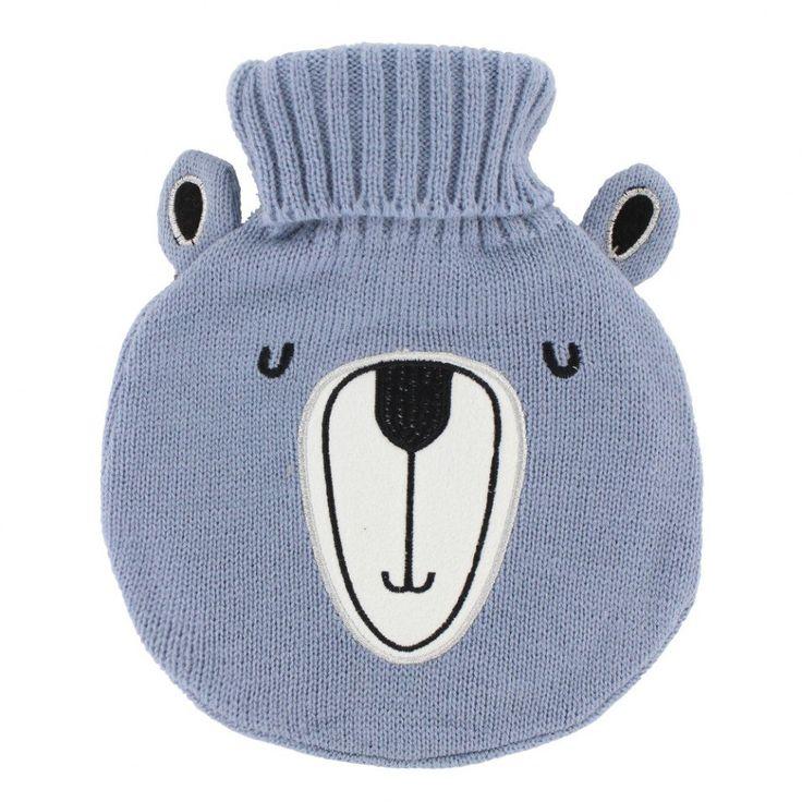 Grey bear hot water bottle