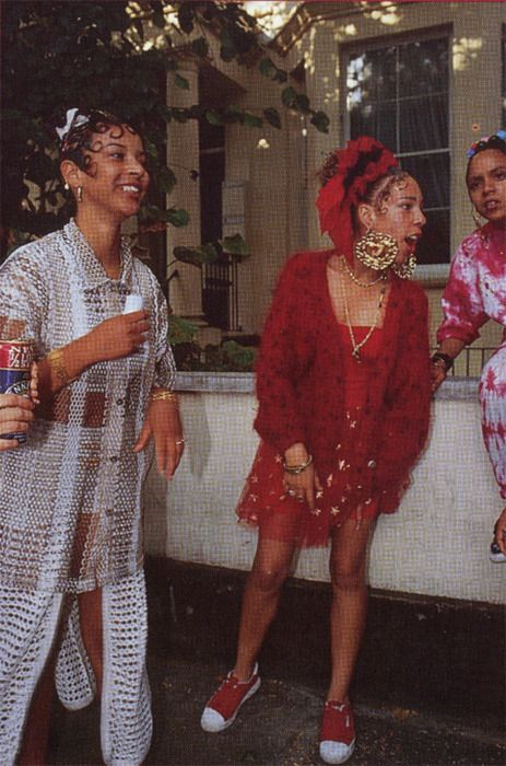 notting hill carnival in the 1990s. Kangeroos, kiss curls and door knockers.