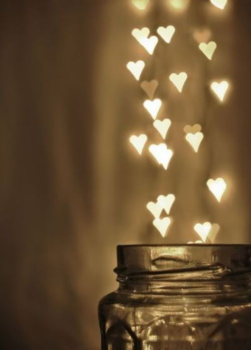 Heart shaped lights.