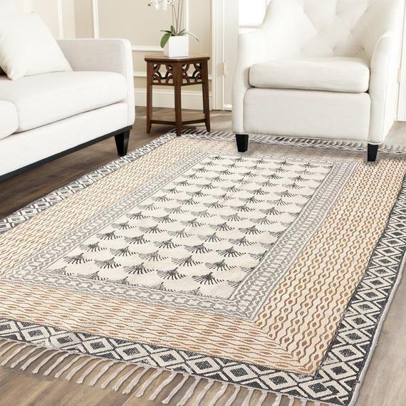 5 X 8 Fuss Handblock Gedruckt Teppich Indischer Teppich Grosser Teppich Grosser Teppich Blauer Teppich Bodenteppic In 2020 Floor Rugs Rugs On Carpet Indian Rugs