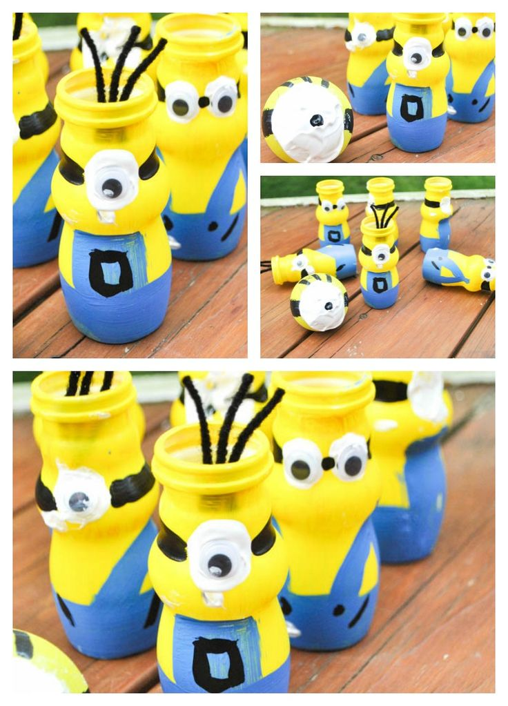 Boy, Oh Boy, Oh Boy Crafts: Mini Minion Bowling Set Craft