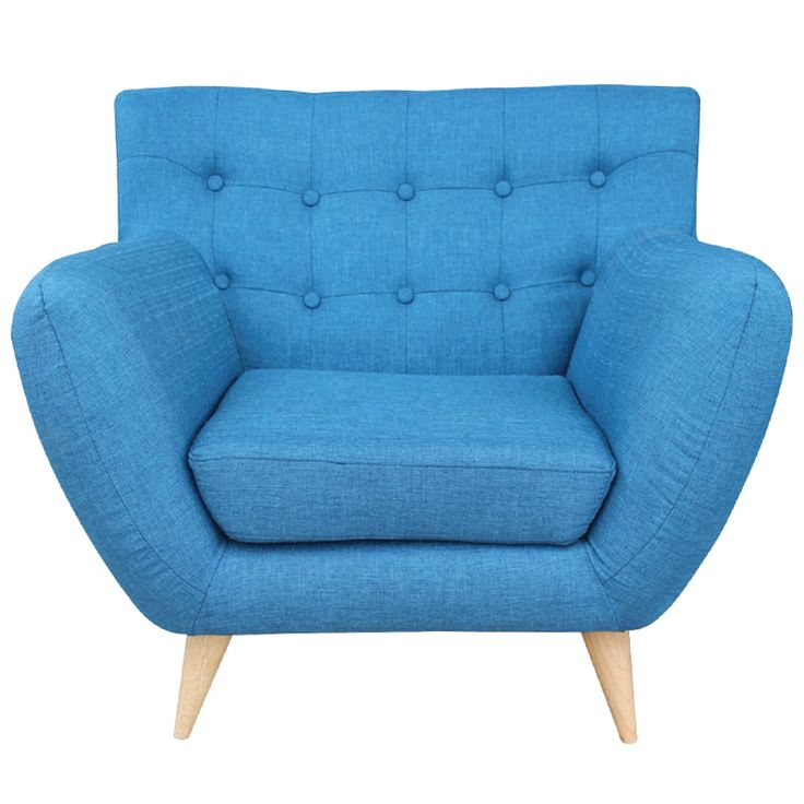 Armchair Rihanna fabric blue Ε978,14