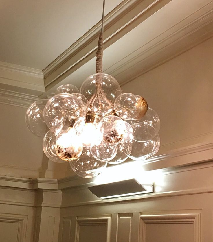 Beautiful original chandelier design, handmade by Carol in New York City  with quite a few