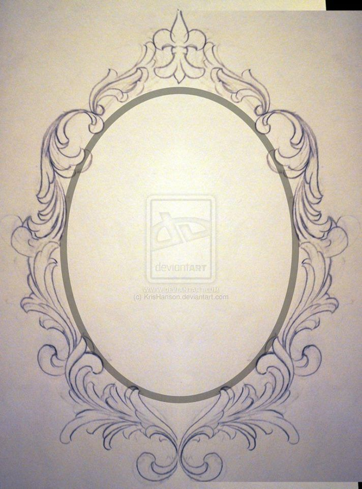 gilded frame tattoo - Google Search