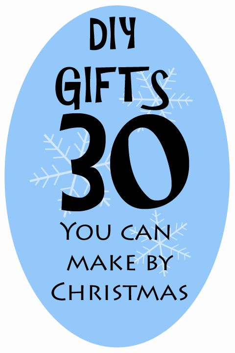 This list has lots of great ideas for DIY gifts. They're simple enough to complete in an hour or two and not break the bank!