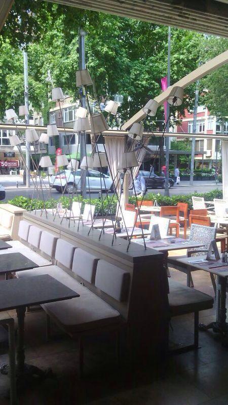 Cafe Cadde lighting design by Etik ve Teknik