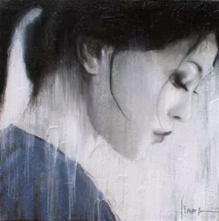 Kunstwerk: Tokio Blue van kunstenaar Christiaan Lieverse