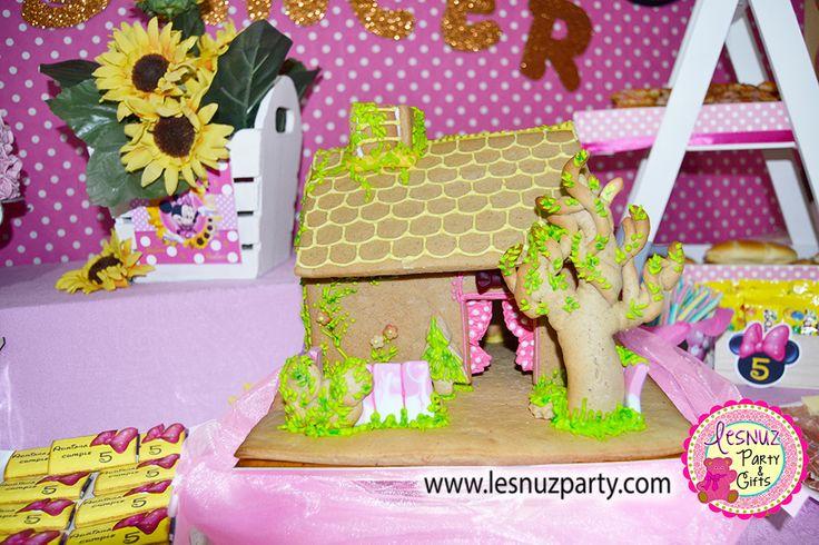 La Casita de Minnie Mouse cumple temático Lesnuzparty - Minnie Mouse's House birthday themed