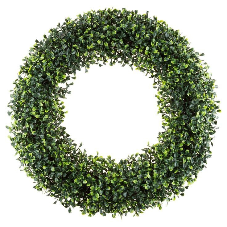Round Artificial Boxwood Wreath 19.5 - Pure Garden, Green