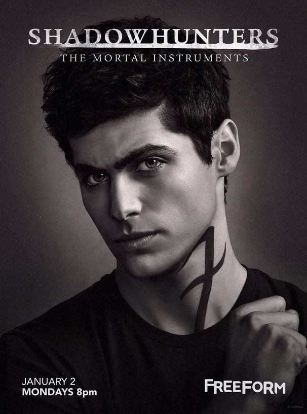 NEW POSTER | Matthew Daddario as Alec Lightwood on Freeform's TMI Shadowhunters Season 2 Teaser Poster via ShadowhuntersTV Instagram