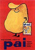 1950 Armando Testa manifesto per le patatine Pai