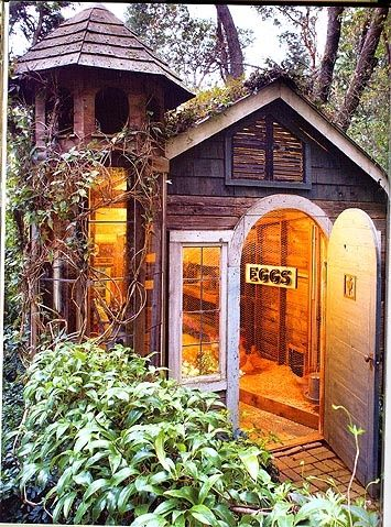 What a fancy chicken coop.                                                                                                                                                      More
