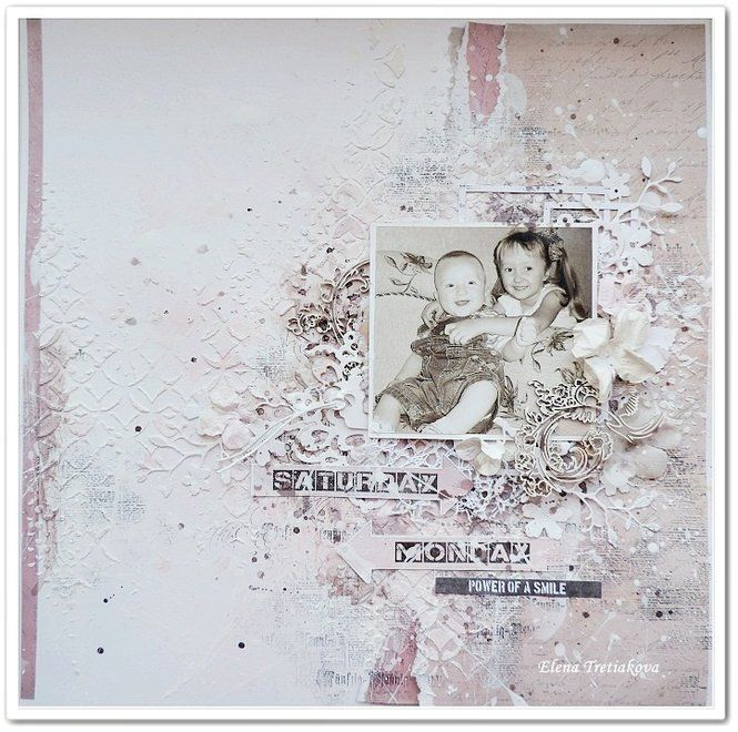 Layout: neutral baby page by Elena Tretiakova