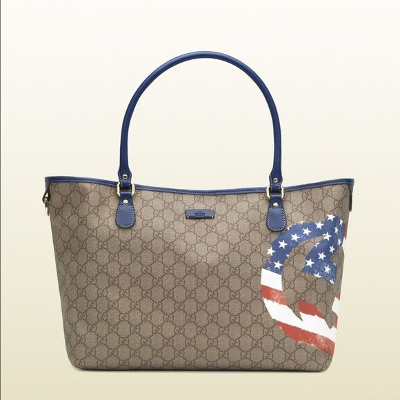Rate Gucci USA tote This rate Gucci USA tote has never been used Gucci Bags Totes