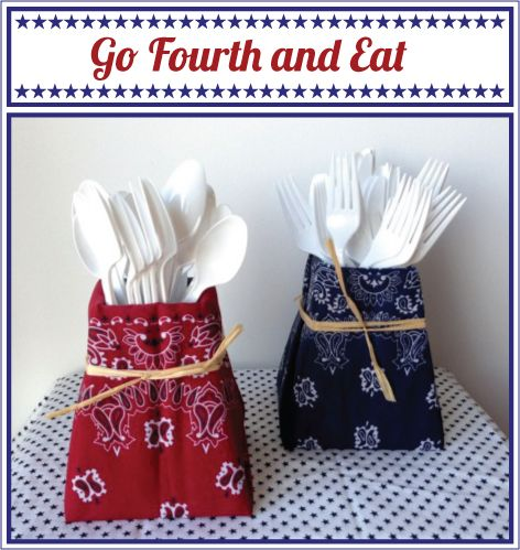 "project ideas for old silverware | ... for this super easy ""Do It Yourself"" project for the 4th of July"