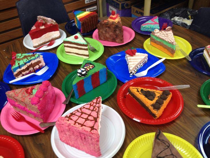 Paper Mache Cake Slices