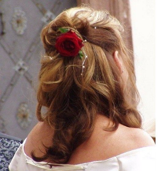 Bridal Hairstyle With Rose : 35 best wedding hair with veil images on pinterest