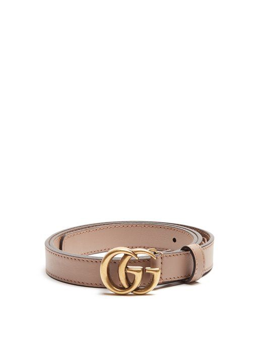 25cb2d962537 GUCCI GG-logo 2cm leather belt.  gucci