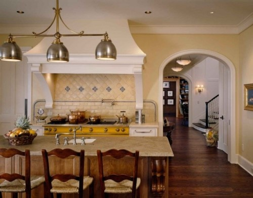 Country/French Country: Decor, Ideas, Dreams Kitchens, Lights Fixtures, Country French Country, Traditional Kitchens, Color, Floors Design, French Country Kitchens