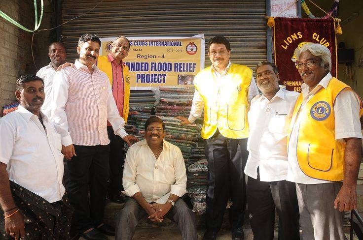 Chennai Triplicne #LionsClub (India) gave flood relief assistance