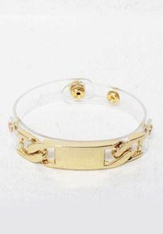 Transparent Metal Link Bracelet  SFSELFAA0014038