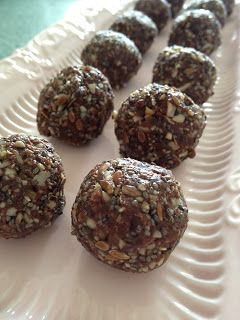 Nut free chocolate protein balls