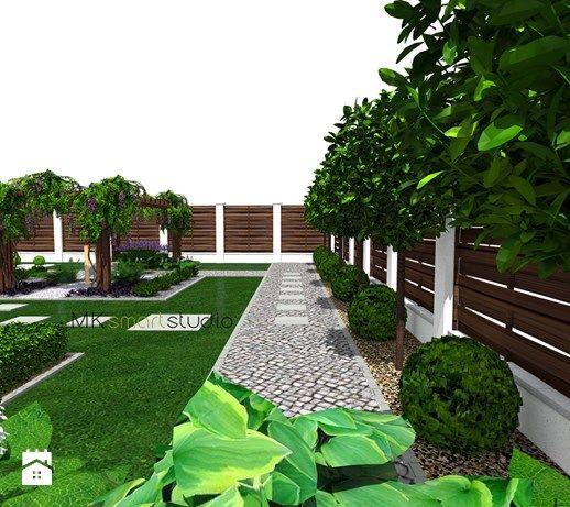 Projekt ogrodu nowoczesnego - ''Siła kosodrzewiny'' - Ogród, styl nowoczesny - zdjęcie od MKsmartstudio