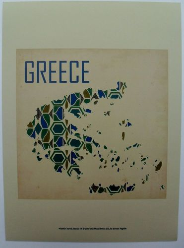 $17.50  Greece Abstract MAP ART Print Travel Abroad IV BY Jarman Fagalde | eBay #school #map #classroom #greece
