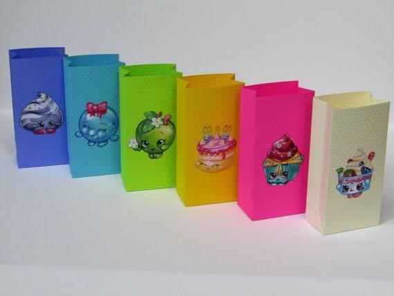 12 Shopkins Party Favor Bag- Candy Bag – Treat Bag– Goodie Bag– Gift Bag– Shopkins Boy/Girls Birthday Party Bag– Shopkins from Lovelyhandscrafts on Etsy. #goodie #birthday #shopkins #small.