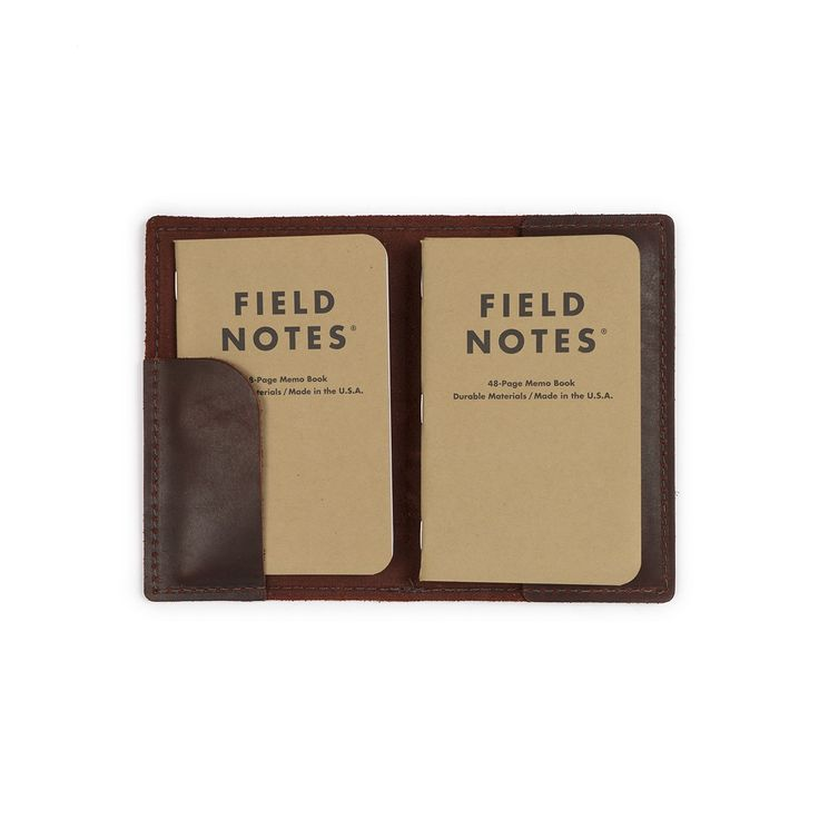 We teamed up with Field Notes and designed a leather cover. It comes with a Field Notes mix 3 pack to get you started. Get yours today & take it to the field.
