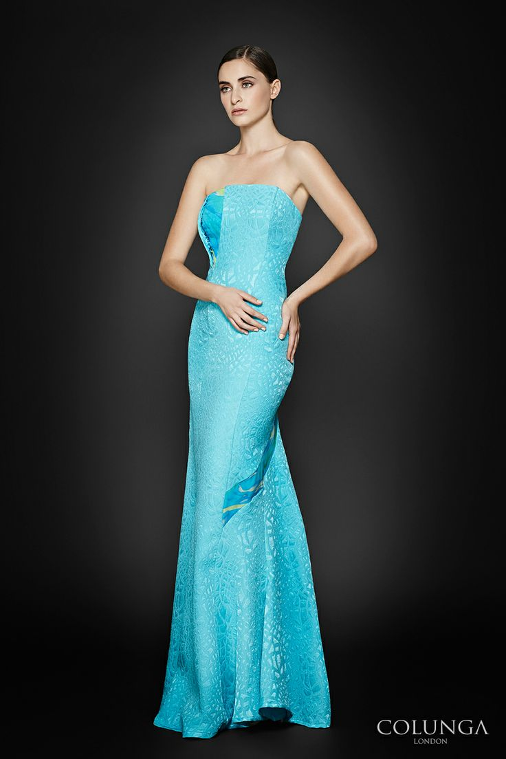 Charlotte de Savoy. Gown of jacquard wool with silk and silk chiffon. COLUNGA London gowns on Pinterest