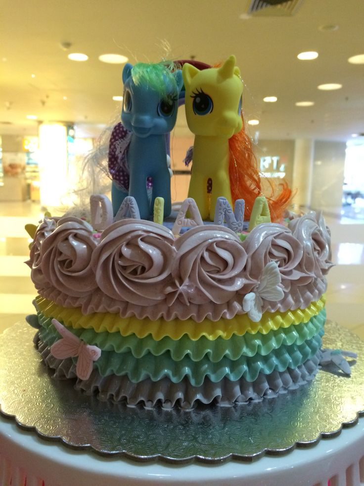 My Little Pony Birthday Cakes #birthdaycake #birthday #cake #desserttable #kids #party #girl