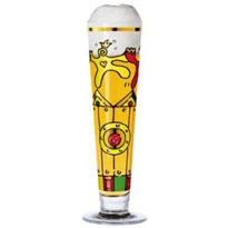 Ritzenhoff - Bier  Bicchiere birra decorato, confezionato singolarmente con 4 sottobicchieri che riprendono lo stesso decoro