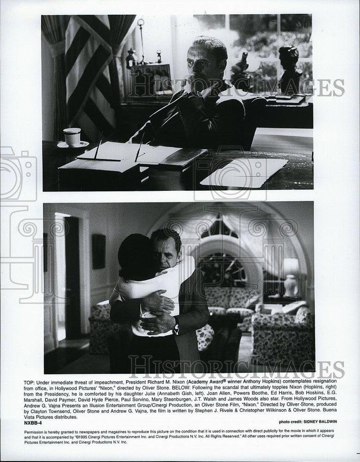 1995 Press Photo Annabeth Gish Actress Anthony Hopkins Actor Nixon Movie Film