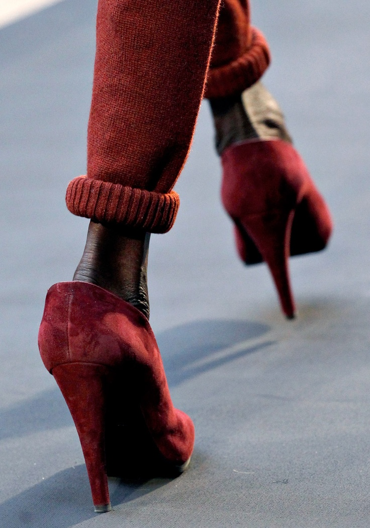 hermes fw 2012 cuffed sweater pants, runway