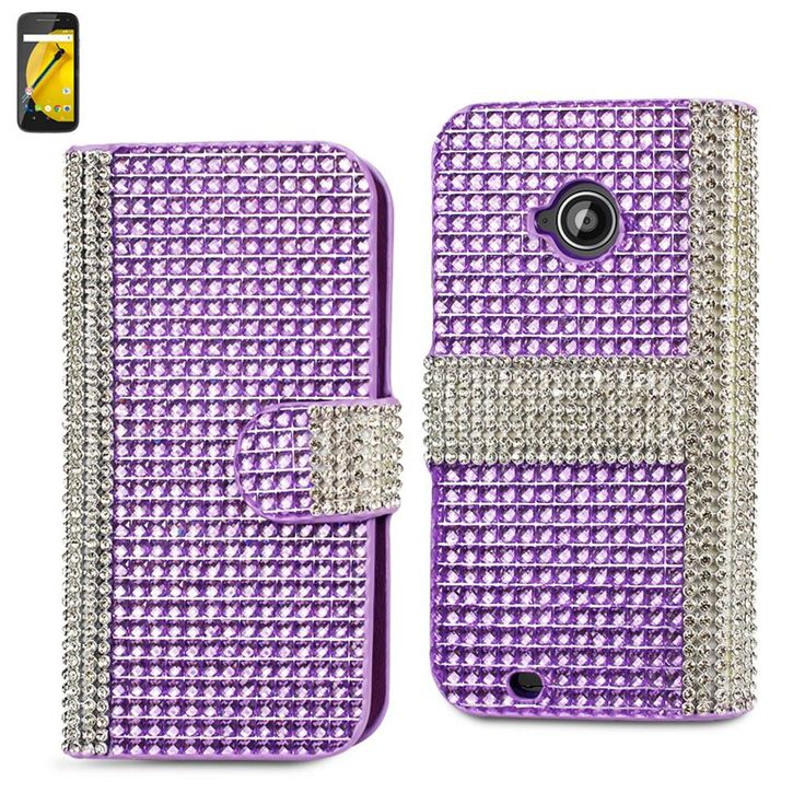 Reiko Diamond Flip Case For Motorola Moto E Lte (2Nd Generation) Motorola Xt1527-Xt1511-Xt1505-Xt1524 Silver