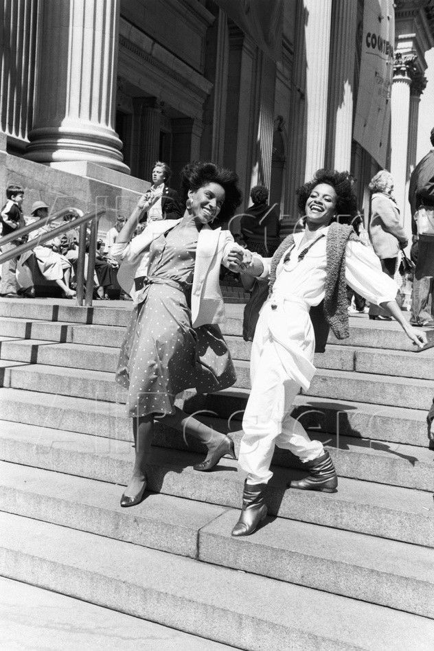 and do something stupid together!... (Phylicia Rashad and Debbie Allen by Moneta Sleet, Jr)