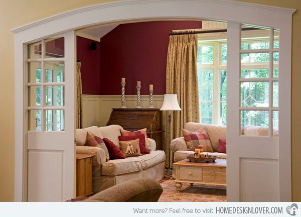 15 Mesmerizing Maroon Living Room Walls