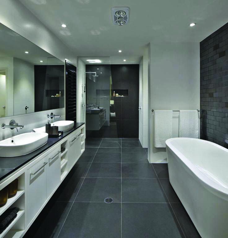 Gorgeous Black Colored Bath Rooms White Bathroom Tiles Gray
