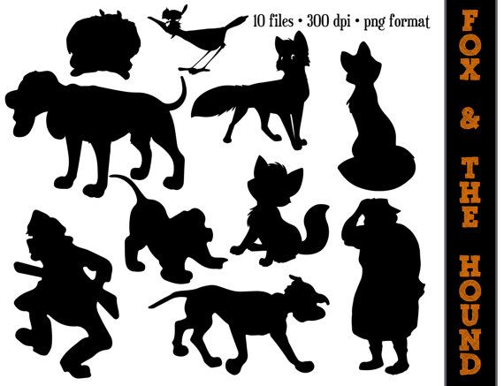 Fox and the Hound Silhouettes // Tod Cooper by SparkYourCreativity, $6.00