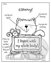 whole body listening coloring pages - photo#14