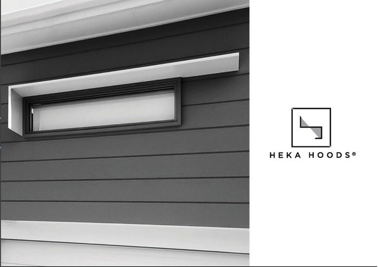 hekahoodsOur hoods arrive to site in one piece as a finished product, ready for a quick and easy installation. #hekahoods #awnings #hoods #Murphyhomes