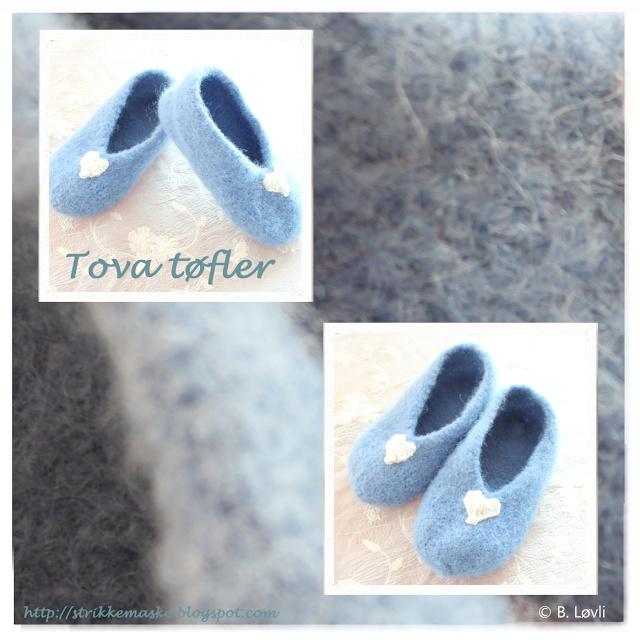 Tovede skjønne blå tøfler