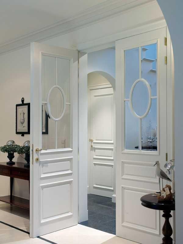 Nordex binnendeur draaideur klassieke deur 31 MDM glas dubbele deur lak