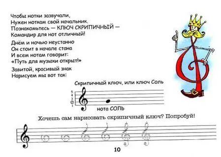 Стихи про ноты для детей короткие